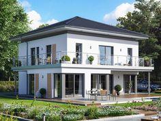 Fantastic 161 V6 • Einfamilienhaus von Bien-Zenker • Jubiläums-Aktionshaus mit Übereckerker, XL-Balkon und schwebendem Walmdach.