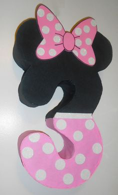 Minnie by aldimyshop Birthday Pinata, Minnie Birthday, 3rd Birthday Parties, Baby Birthday, Minnie Mouse Pinata, Minnie Mouse Birthday Decorations, Kids Party Decorations, Party Ideas, Birthday Numbers
