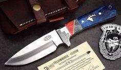 CFK IPAK USA DAVID YELLOWHORSE Custom D2 Camel Bone ELK Hunting Skinning Knife   eBay