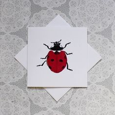 Ladybird print Greetings card £3.00