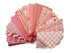 "2"" x 3.5"" Tiny Envelopes/ Card Envelopes/ Pattern Envelopes/ Blank Stationery/ Assorted Red Patterns / Set of 20"