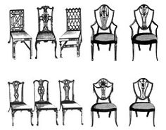 Georgian Furniture, Vintage Furniture, Furniture Styles, Furniture Design,  Chippendale Chairs, Antique Chairs, Design History, Chair Backs,  Neoclassical