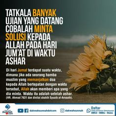Jum'at, diwaktu ashar Muslim Quotes, Islamic Quotes, Islamic World, Self Reminder, Islamic Pictures, Wallpaper Quotes, Quran, Allah, Qoutes