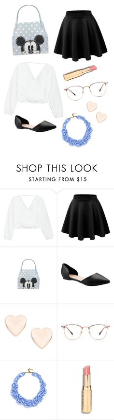 """""""Mickey Chic"""" by babybenchmark ❤ liked on Polyvore featuring LE3NO, Ted Baker and BaubleBar"""