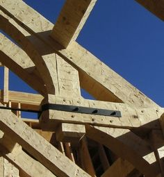 Tension rods are added to trusses to resolve the spreading forces in the roof