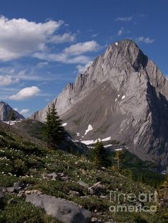 Shark Tooth Mountain Photograph  - SilverQuill Peak favorite place in the whole world