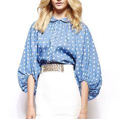 Dot printed blouse