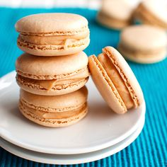 These Salted Caramel Macarons are fluffy and chewy on the inside, with a thin, egg shell-like crust and cute little feet. Made with Italian meringue!