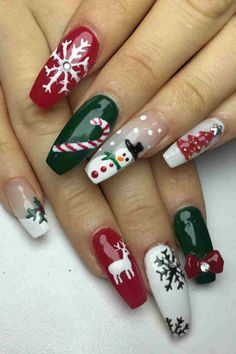 60 Christmas Nails Offers You a Special Look at the Festival - Chicbetter Inspir. , 60 Christmas Nails Offers You a Special Look at the Festival - Chicbetter Inspiration for Modern Women - Beauty - Nail Art Noel, Xmas Nail Art, Winter Nail Art, Winter Nails, Spring Nails, Summer Nails, Christmas Gel Nails, Holiday Nails, Purple Nail