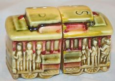 Trolley Car salt and pepper shakers