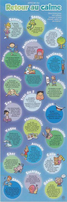 Un outil psychoéducatif pour favoriser le calme et la détente. Conçue à la demande des éducateurs et des intervenants soucieux du bien-être des enfants, cette affiche présente, de manière colorée et inspirante, 21 stratégies éprouvées pour s'apaiser et retrouver son calme dans les situations qui génèrent du stress, de l'agitation ou de la colère. Utilisez l'affiche du retour au calme pour enseigner des techniques de relaxation et de détente efficaces et amusantes, animer des séances…