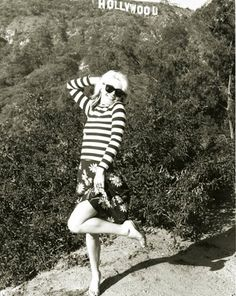 Debbie Harry // hollywood // striped shirt // vintage babe