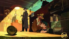Sergio Pablos, The Great Mouse Detective, Spa Studio, Environment Concept Art, Feature Film, Book Design, Really Cool Stuff, Character Design, Animation
