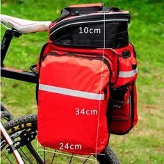 Yeni Su Geçirmez Polyester Dağ Yolu Bisiklet Bisiklet Çanta Bisiklet Çift Yan Arka Raf Kuyruk Koltuk Trunk Çanta Pannier