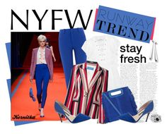 """""""Hot NYFW Runway Trend"""" by kornitka ❤ liked on Polyvore featuring Roland Mouret, IRO, Thierry Mugler, Maje, French Connection, Ippolita and AMBUSH"""