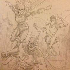 craigcermak:  Oh I can't wait to ink this one. #batman #robin #batgirl #dccomics #comics #commission #art #pencils #process #illustration #BarbaraGordon #DickGrayson #BruceWayne   Ooooohh…this is going to be FABULOUS.