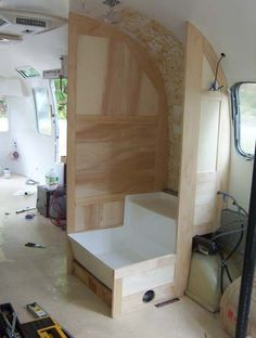 Interior painted, now on to the woodworking - Airstream Forums
