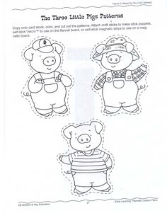 1000 ideas about little pigs on pinterest pigs mini for The three little pigs puppet templates