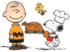 Who wouldn't want to have Thanksgiving with the Peanuts gang ?