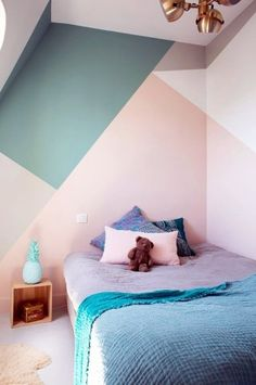 Kids Bedroom Wall Painting And Decoration Idea 118