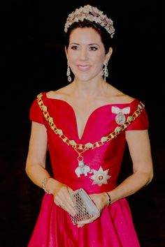 """crownprincesses:  """" Crown Princess Mary of Denmark arrives at the annual New Years reception in Amalienborg Palace in Copenhagen, Denmark. 