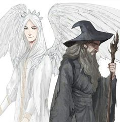 Gandalf and Gandalf Olorin in Valinor and in the Midle earth