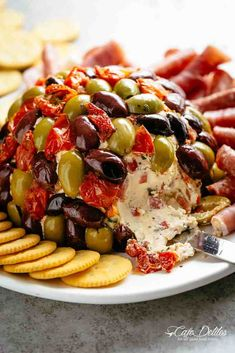 Cheese Ball Antipasto is a perfect centre piece for any occasion! With NYE around the corner, this Cheese Ball Antipasto is a welcome addition to serve with wine and champagne! Full of antipasto ingredients on the inside Finger Food Appetizers, Appetizer Dips, Yummy Appetizers, Appetizers For Party, Appetizer Recipes, Antipasto Recipes, Antipasto Salad, Antipasto Platter, Italian Appetizers