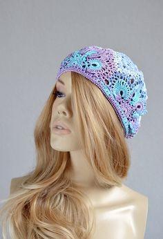 Crochet summer hat Lace summer hat Womens by NataliaYakimenko