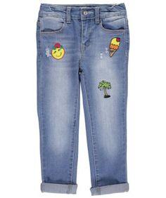 Bebe Little Girls' Toddler 'My Favorite Things' Skinny Jeans (Sizes 2T - 4T) - medium stone, 3t, Toddler Girl's