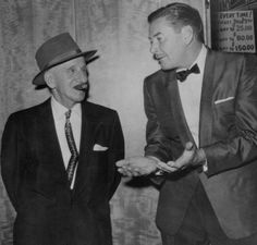 Jimmy Durante & Errol Flynn. I have to know what they're talking about.