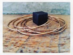A personal favorite from my Etsy shop https://www.etsy.com/listing/257601751/bronze-bracelet-bangle-hammered-smooth