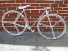 Made entirely of Scotch Tape! Bicycle sculpture for Scotch(R) Off The Roll Tape Scupture Contest - 2012 Sculpture Lessons, Sculpture Projects, Sculpture Art, Sculpture Ideas, Art Projects, Tape Art, Scotch Tape, Plastic Art, Weird Pictures