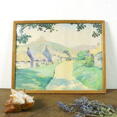 Vintage Watercolor Painting / Original Artwork Artist by SPUNKvtg