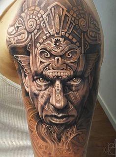 Aztec, traditional, tattoo art