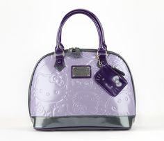 HK |❣| HELLO KITTY Loungefly Purple Exclusive Embossed Handbag