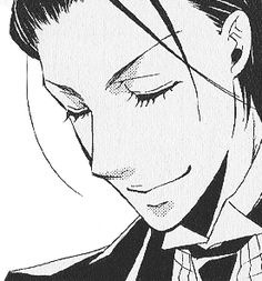 Sebastian Michaelis  His face structure and hair just compliment each other. In his face or out, he looks great