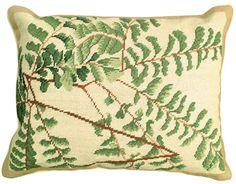 Fern Needlepoint Pillow
