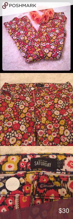 Selling this Kate Spade Saturday Poppy Print Skinnies 🌼 on Poshmark! My username is: meagan210. #shopmycloset #poshmark #fashion #shopping #style #forsale #kate spade #Denim