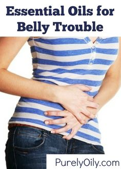 Check out these essential oils that may help with belly trouble & upset.