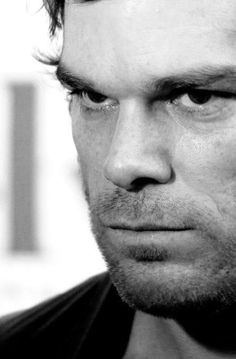 Dexter Morgan, from the TV series, 'Dexter' is a blood splatter analyst who also is a serial killer. The expression in this photo shows his dark side more, I did a study of this on my first board.