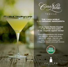 The Signature Casa Noble tequila Margarita for 2014!