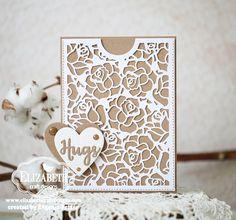 Kraft and White 'Hugs' card by Evgenia Petzer