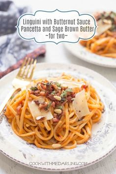 Low Unwanted Fat Cooking For Weightloss Linguini With Butternut Sauce, Pancetta And Brown Butter Real Food Recipes, Healthy Recipes, Delicious Recipes, Amazing Recipes, Easy Recipes, Healthy Snacks, Creamy Pasta Recipes, Healthy Pastas, Barbecue Recipes
