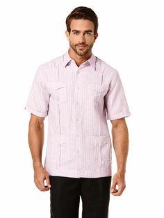 2d49af06a40e0 Linen Short Sleeve Textured Guayabera
