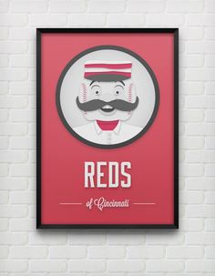 Cincinnati Reds Print by DesignsByEJB on Etsy, $20.00