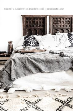 bedroom goals!  interior inspiration style design love this space eclectic global mix natural palette textures #jotitdown