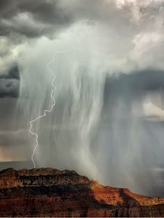 Lightning Strike, storm, Grand Canyon, Utah, United States