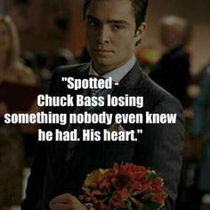 """""""Flagrado- Chuck Bass perdendo algo que ninguém sabia que ele tinha: Seu coração"""" (gossip.girl)"""