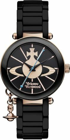 Vivienne Westwood Kensington Women's Quartz Watch with Black Dial Analogue Display and Black Ceramic Bracelet VV067RSBK Vivienne Westwood,http://www.amazon.com/dp/B00B96WOCQ/ref=cm_sw_r_pi_dp_UWHSsb19HCR3KC7M