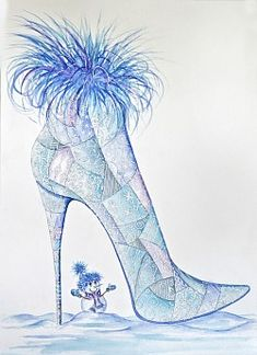 Shoe art with something for everyone from stained glass to Stars and Stripes and lots inbetween. Fantasy Paintings, Fantasy Art, Canvas Art Prints, Canvas Wall Art, Fashion Illustration Shoes, King Design, Shoe Art, Snow Queen, Anime Art Girl